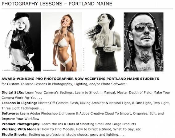 Photography Workshop Lessons Classes Portland Maine
